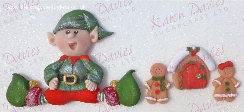Karen Davies Sitting Elf Mould