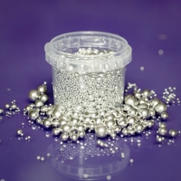 Purple Cupcakes - Metallic SILVER 2mm to 10mm Mix