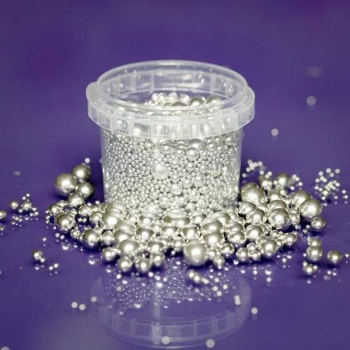 Edible Silver Balls - Mix 2mm,4mm,6mm,8mm,10mm