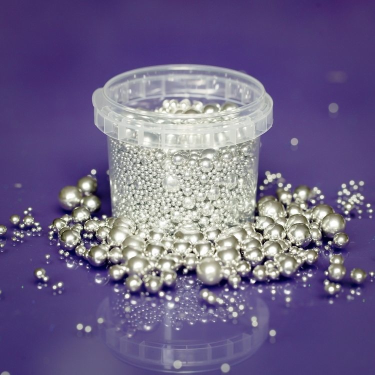 Edible Silver Balls - Mix 2mm,4mm,6mm,8mm,10mm