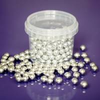 Edible Silver Balls - 8mm