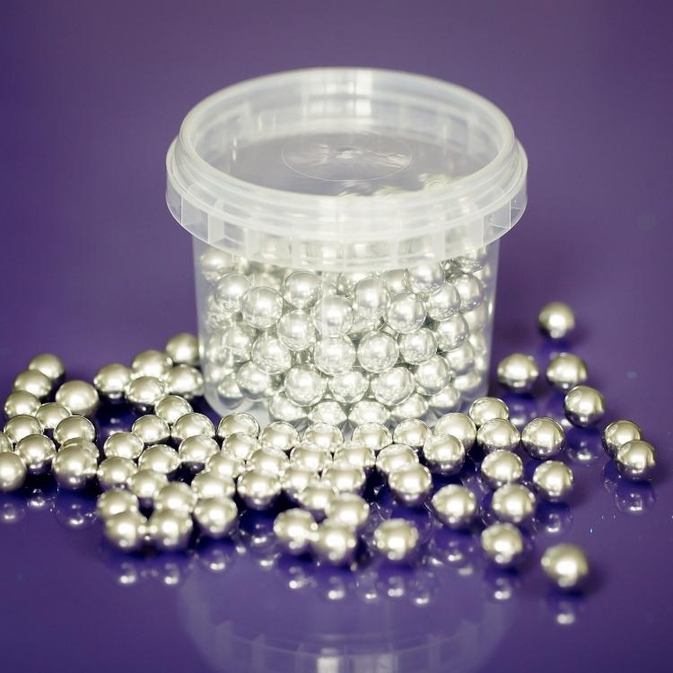 Edible Silver Balls - 8mm