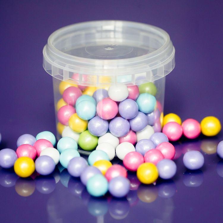 Large Sugar Pearls 10mm - Rainbow