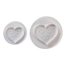 Pavoni Plunger Cutters Hearts 2 Piece Set