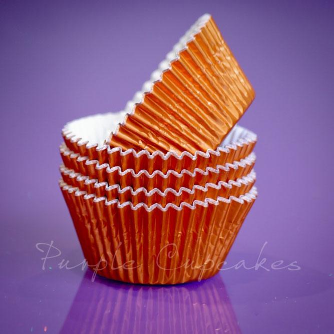 Cupcake Cases FOIL - 70 Orange