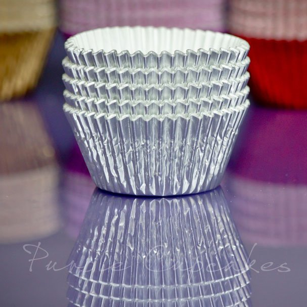 Cupcake Cases FOIL - 70 Silver