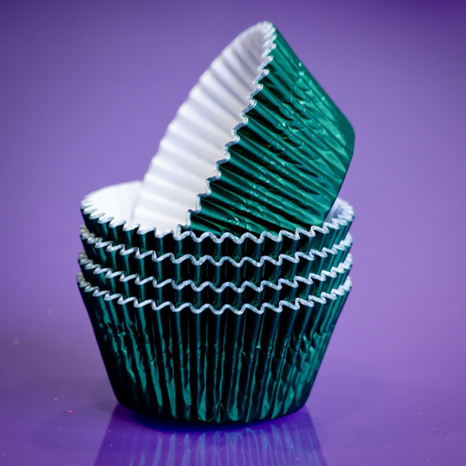 Cupcake Cases FOIL - 70 Green