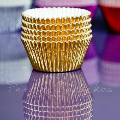 Cupcake Cases FOIL - 70 Gold