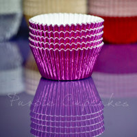 Cupcake Cases FOIL - Bright Pink