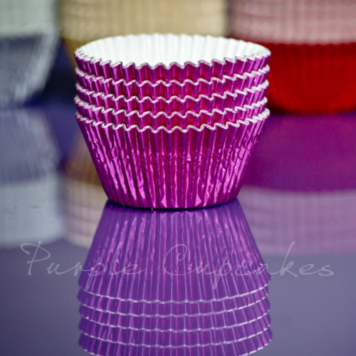 Cupcake Cases FOIL - 70 Bright Pink