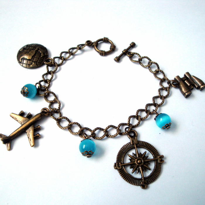 Travel and Adventure charm bracelet CCB061