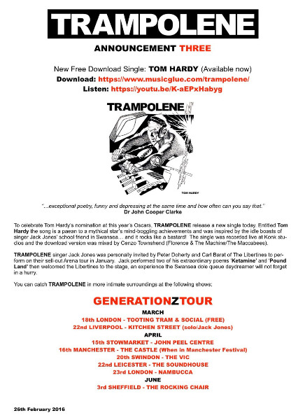 Trampolene press release