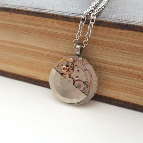 Steampunk vintage watch movement necklace SN123