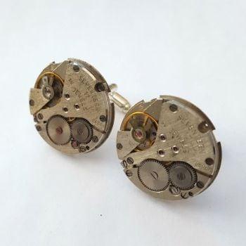 Watch movement cufflinks steampunk vintage mechanisms SC071