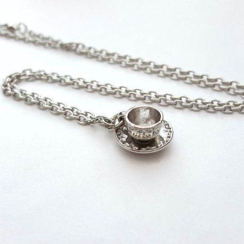 Silver teacup necklace VN118