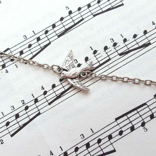 Silver swallow bracelet vintage style VB003