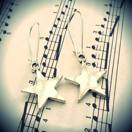 Silver star earrings CE023