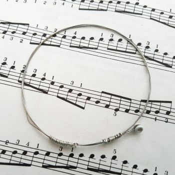 Guitar string bracelet bangle Size XS PD014