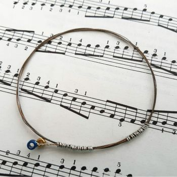 Guitar string bracelet bangle Size XS PD016