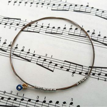 Guitar string bracelet bangle Size XS PD016