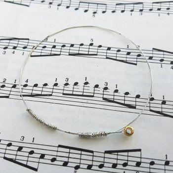 Guitar string bracelet bangle Size XS PD026