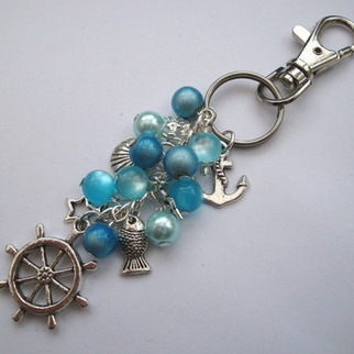 PBG030 Turquoise pirate bag charm