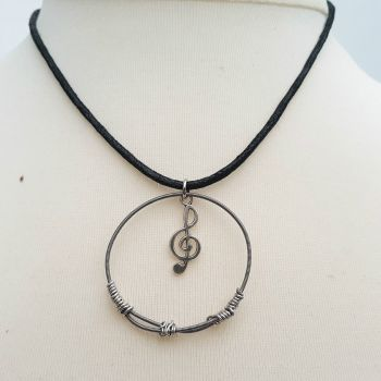 Trampolene Bass & Treble bass guitar string necklace TN002