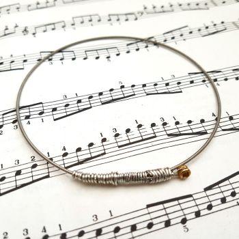 Guitar string bracelet bangle Size XL (85mm diameter) CB001