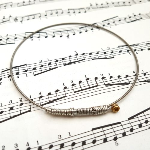 Guitar string bracelet bangle Size XL CB001