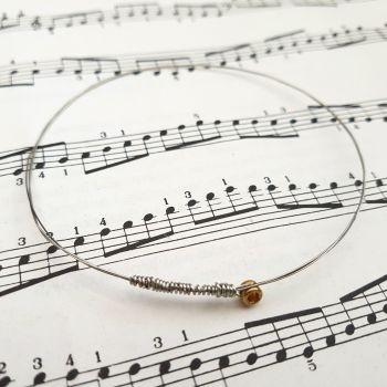 Guitar string bracelet bangle Size M (75mm diameter) CB003