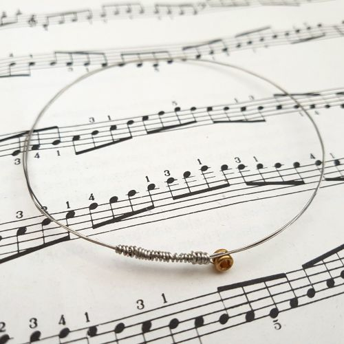 Guitar string bracelet bangle Size M (75mm diameter) CB003