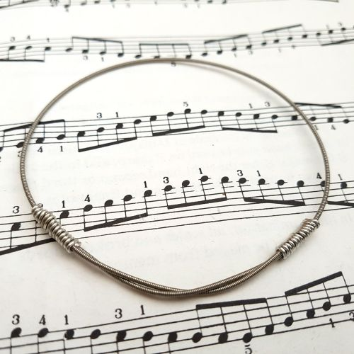 Guitar string bracelet bangle Size M (75mm diameter) CB004