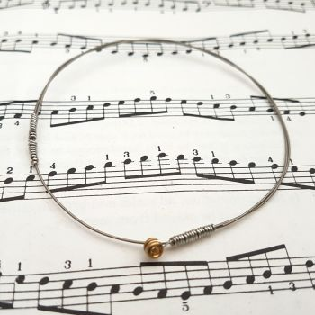 Guitar string bracelet bangle Size S (70mm diameter) CB006