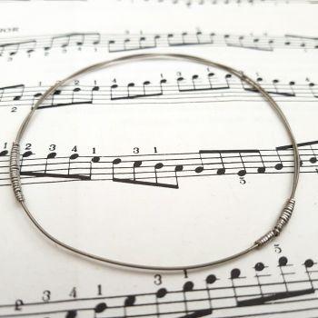Guitar string bracelet bangle Size S (70mm diameter) CB007