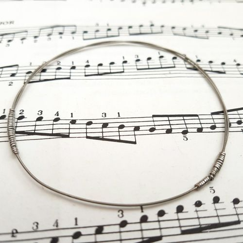 Guitar string bracelet bangle Size S (70mm diameter) CB007