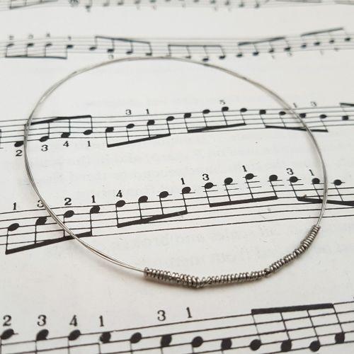 Guitar string bracelet bangle Size XS (65mm diameter) CB008
