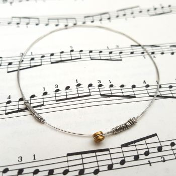 Guitar string bracelet bangle Size XS (65mm diameter) CB009