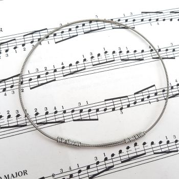 Guitar string bracelet bangle Size XL (85mm diameter) PD031