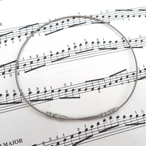 Guitar string bracelet bangle Size XL (85mm diameter) PD031