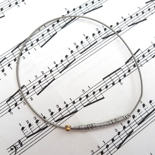 Guitar string bracelet bangle Size L (80mm diameter) PD032