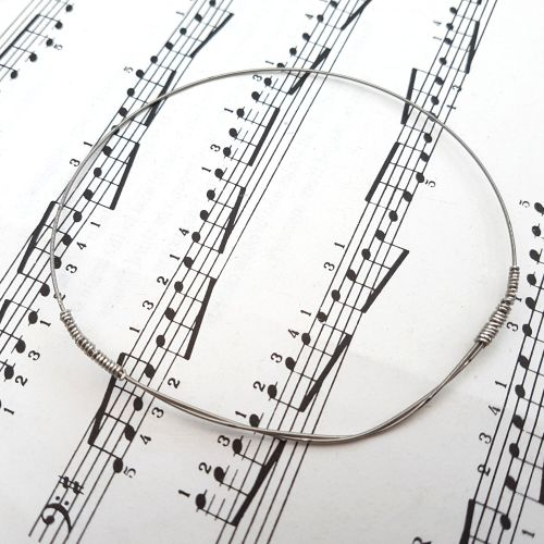 Guitar string bracelet bangle Size L (80mm diameter) PD035