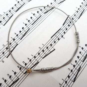 Guitar string bracelet bangle Size S (70mm diameter) PD036