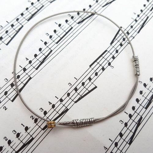 Guitar string bracelet bangle Size S (70mm diameter) PD036