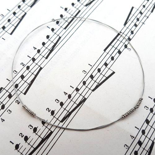 Guitar string bracelet bangle Size XXS (60mm diameter) PD037
