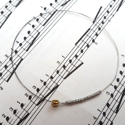 Guitar string bracelet bangle Size XXS (60mm diameter) PD038