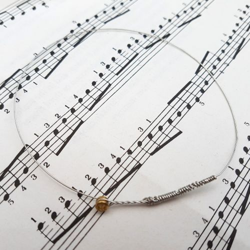 Guitar string bracelet bangle Size M (75mm diameter) PD039