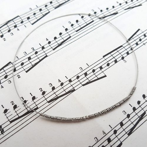 Guitar string bracelet bangle Size S (70mm diameter) PD040