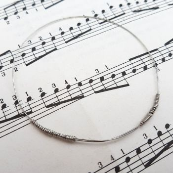 Guitar string bracelet bangle Size XXS (60mm diameter) PD042