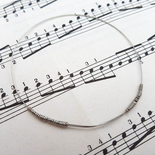 Guitar string bracelet bangle Size XXS (60mm diameter) PD042