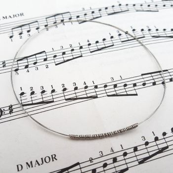 Guitar string bracelet bangle Size M (75mm diameter) PD043